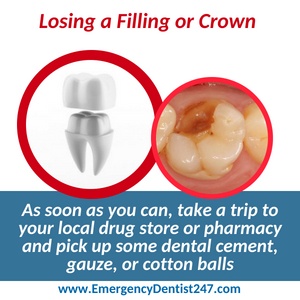 emergency dentist 247 leominster lost a crown or a filling