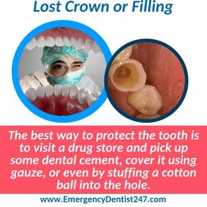 emergency dentist 247 brooklyn lost crown or filling