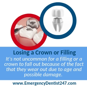 lossing a crown emergency dentist columbus