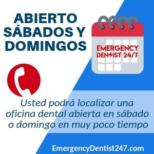dentista abierto en sabado y domingo
